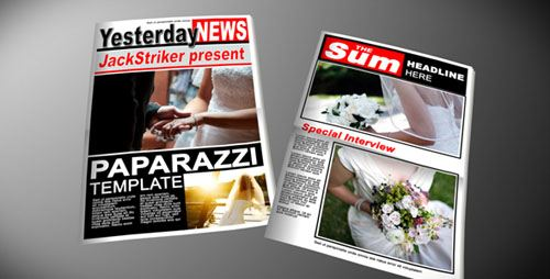 Paparazzi Tabloid Newspaper - Projects for After Effects (VideoHive)