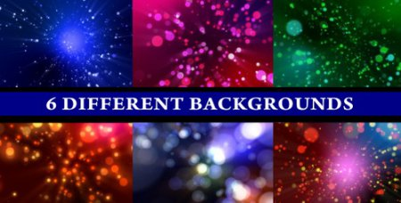 Videohive motion graphic - Particle Shine (6-Different Backgrounds Loop)