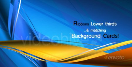 Videohive - RIBBONS Lower third & Background COMBO