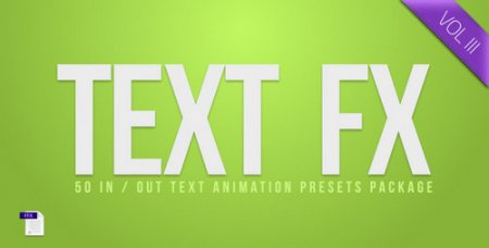 Text Fx Vol.3 - After Effects Project (Videohive)