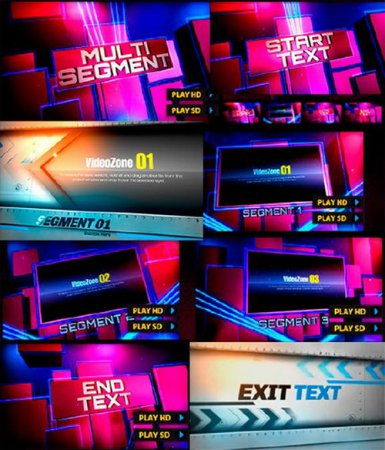 Footlights Fan and Next Exit - After Effects projects for dynamic video
